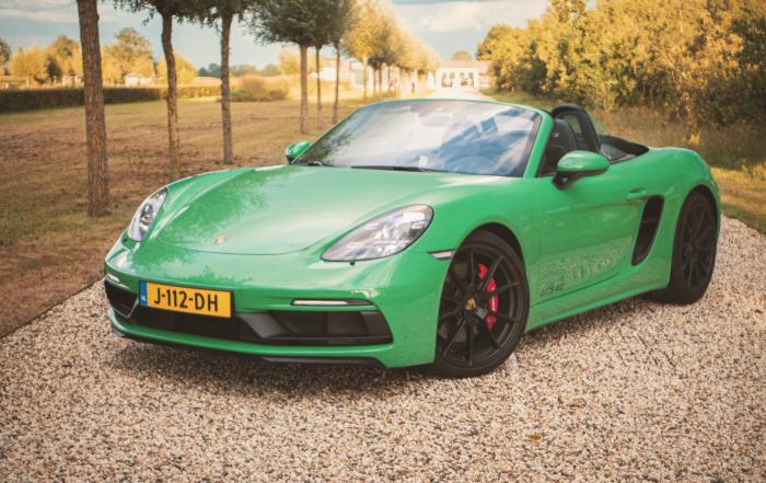 Groene Porsche Boxster GTS 4.0
